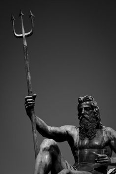 Statue of Poseidon in greece Greek And Roman Mythology, Greek Gods And Goddesses, Poseidon Greek Mythology, Rome Antique, Roman Gods, Greek Art, Ancient Greece, Mythical Creatures, Art History