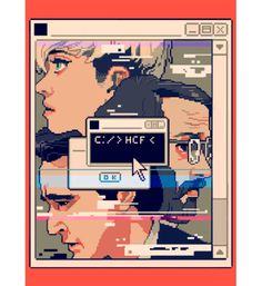 'HCF' For The New YorkerIllustration I did for a review of AMC's Halt and Catch Fire, about hackers in the 80′s technology boom. HCF is old computer command which sends the code into an inescapable loop forcing you to either shut down or let it overheat, kind of a metaphor for the times, so I of course decided to show them as the program and have them glitching out in pixels. Thanks to AD Christine Curry!