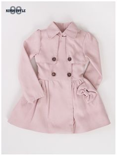 Nine9 Style - MSD Ribbon Trench Coat (Pink)
