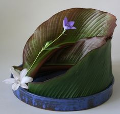 365 Days of Ikebana-Day 22 - Showing the surface of leaves