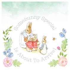 Part of a bespoke baby shower invitation for a good friend of mine. She asked for a Peter Rabbit theme as she has decorated the nursery in Beatrix Potter.