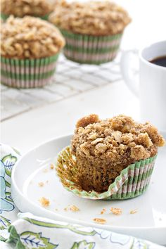 Olive Oil Banana Walnut Muffins