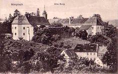 Zamek w Niemczy na widokówce z 1933 roku