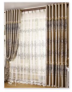 Fashion shade cloth curtain thickening quality silk embroidered cloth living room curtain blind curtains for window 3x2.6m