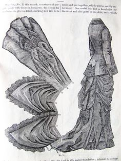 How a bustle was draped