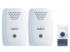 One Transmitter to Two Receiver Wireless Door Bell. Range (Open air) weather proof design Energy saving design 16 Different melodies 2 x Receivers Battery for transmitter included. Save Energy, Doors, Design, Gate