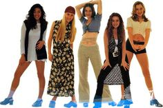 Outfits of a 90s girl. (Look, vests as long as your dress--how cute!)