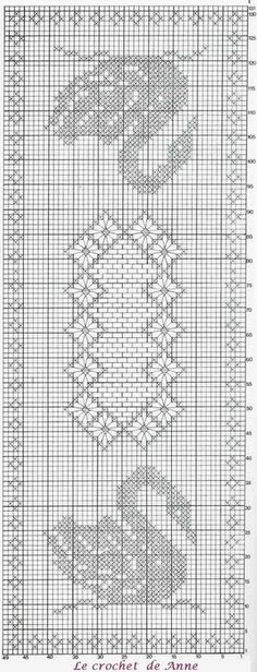 Swan filet crochet table cover chart. Stunningly beautiful.