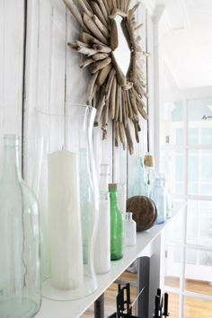 The Wicker House: Decorating with bottles