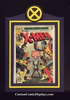 """Custom X-MEN """"Premier Series"""" Comic Book Display Frame (X-Men #100)  Visit CustomComicDisplays.com"""