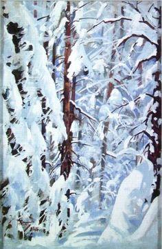 Julian Falat - Forest in the winter Seasons Of The Year, Four Seasons, Art Academy, Krakow, Winter Landscape, Impressionist, Poem, Poland, Ornament