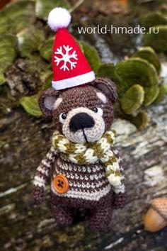 Медвежонок Остап. Мастер-класс по вязанию игрушки крючком.