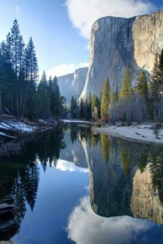 El cap reflection.  Yosemite USA