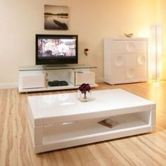 Coffee Table Tables Big White High Gloss Beautiful Modern Matching 16d