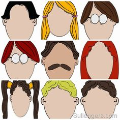 Free Printable: Blank Cartoon Faces:Sullenger Blog- this is awesome!