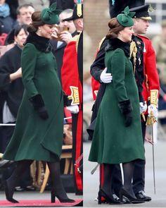 "22k Likes, 141 Comments - Catherine Duchess Of Cambridge (@katemidleton) on Instagram: ""Happy St Patrick's Day, everyone! ☘️ Today, The Duke & Duchess are visitingthe 1st Battalion Irish…"""