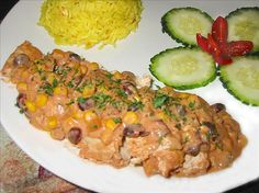 Crock Pot Chicken W/ Black Beans and Cream Cheese...yum!. Photo by shimmerchk