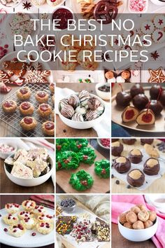 10 No Bake Christmas Cookie Recipes