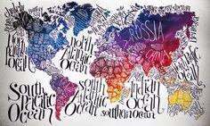 World Map by Valentina Morianz, via Behance