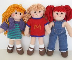 Morehouse Merino Original Patterns for Leftover Yarn Clothes for 14 inch doll. Doll not included. 12 Inch Doll Clothes, Baby Doll Clothes, Doll Clothes Patterns, Clothing Patterns, Baby Dolls, Knitting Patterns Free, Free Knitting, Baby Knitting, Knitted Baby