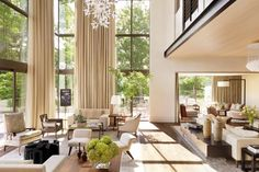 Up, up, and away: These are some of our favorite rooms with extra-high ceilings, lots of light, and plenty of drama.