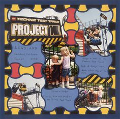Alice Baccus created this scrapbook page using the Lea France Mesh template