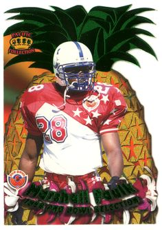Marshall Faulk # 3 - 1996 Pacific Crown Royale Football - Pro Bowl Die Cuts
