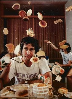 chevy chase + pancakes