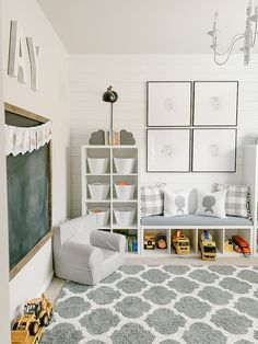 Bedroom Storage Ideas For Clothes, Bedroom Storage For Small Rooms, Small Playroom, Ikea Kids Room, Playroom Storage, Playroom Design, Playroom Ideas, Playroom Paint Colors, Kids Storage Bench
