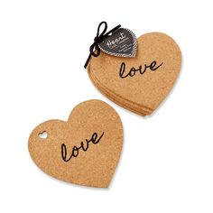 Heart shaped cork coasters are printed with the word love. These practical and unique wedding favors from Kate Aspen are great for bridal showers too. The Knot Wedding Shop, Trendy Wedding, Unique Weddings, Wedding Ideas, Wedding Stuff, Elegant Wedding, Summer Wedding, Diy Wedding, Tea Favors