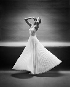 Mark Shaw, Early Black and White Studio Outtake #10 for the Vanity Fair Lingerie Campaign New York, 1950´s