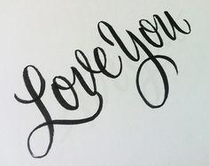 i love you in cursive font - photo #15