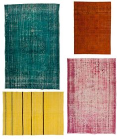 DIY overdyed rug! I don't think I have the courage to attempt this but maybe! Looks easy enough