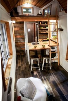 Fall for the attention to detail of a tiny house with the most unbelievable storage options