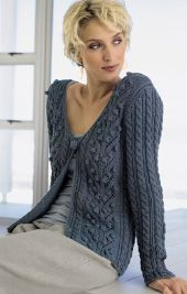 free pattern beautiful blue knitted sweater