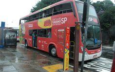SP ganha ônibus turístico com dois andares e vista panorâmica (via Catraca Livre)