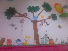 mural de animales de goma eva