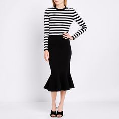 Summer fashion: A classic black skirt.