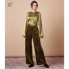 Simplicity Sewing Pattern 8737 Misses' Blouses Women Poetry, Kwik Sew, Vogue Patterns, Simplicity Sewing Patterns, Top Pattern, Blouses For Women, Harem Pants, Bell Sleeves, Turtle Neck