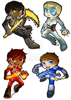 Ninjago Stickers: Set One by prpldragon on deviantART Awesome, but Kai and Cole sorta look like girls...