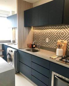 Kitchen Room Design, Kitchen Cabinet Design, Modern Kitchen Design, Home Decor Kitchen, Interior Design Kitchen, Kitchen Ideas, Eclectic Kitchen, Kitchen Hacks, Diy Kitchen