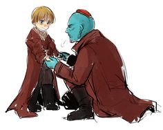 Yondu and little Star Lord>> The scene where he was abducted made me sad :(