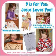 Preschool Alphabet: Y is for Jesus Loves YOU!