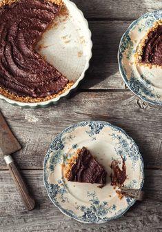 Tarte au chocolat & poires