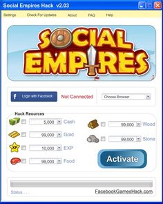 All you system amusement fans will be upbeat today! Regardless of on the off chance that you play Social Empires on