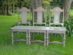 3 chair bench -  Diana's DIY Den & Treasure Showcase Facebook/Pinterest