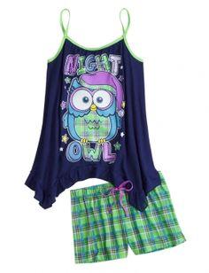 Owl Tank and Short Pajama Set