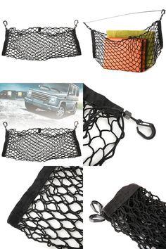[Visit to Buy] Hot 85*23CM Black Car Interior SUV Back Rear Trunk Seat Elastic String Net Mesh Storage Bag Pockets Cage Auto Organizer #Advertisement