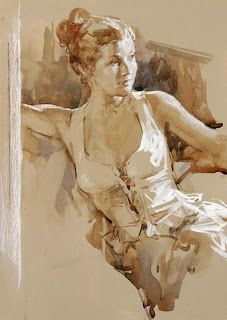 Kai Fine Art is an art website, shows painting and illustration works all over the world. Figure Painting, Figure Drawing, Painting & Drawing, Watercolor Portraits, Watercolor Paintings, Watercolours, Art Sketches, Art Drawings, Life Drawing