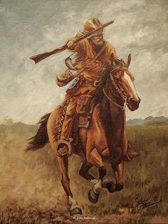 """On the Run"" 12"" x 9"" Original oil on linen - John Peterson Fine ArtOriginal Western, Wildlife & Native American Paintings"